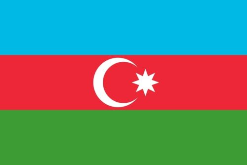 Azerbaijan Flag - Feature image for Tourist Attractions Map