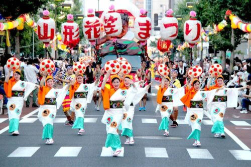 Yamagata-Hanagasa-Festival-in-Yamagata-Japan